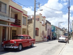Quiet side streets of Holguin.