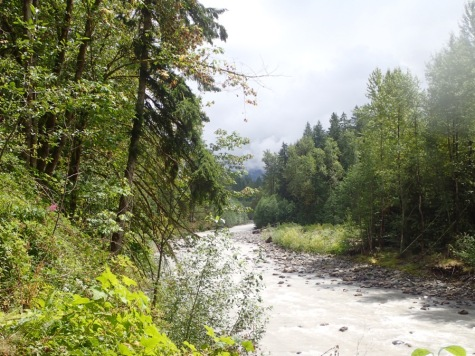 The milky Carbon River.